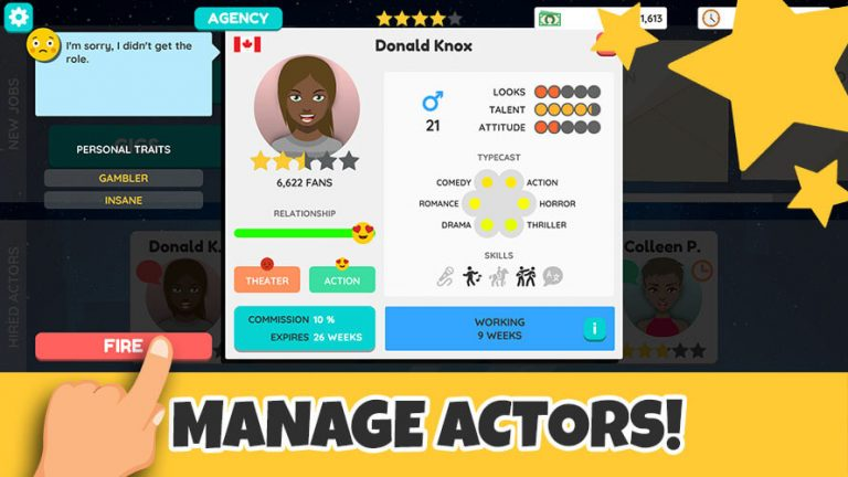 actor tycoon manage actors celebrities hollywood